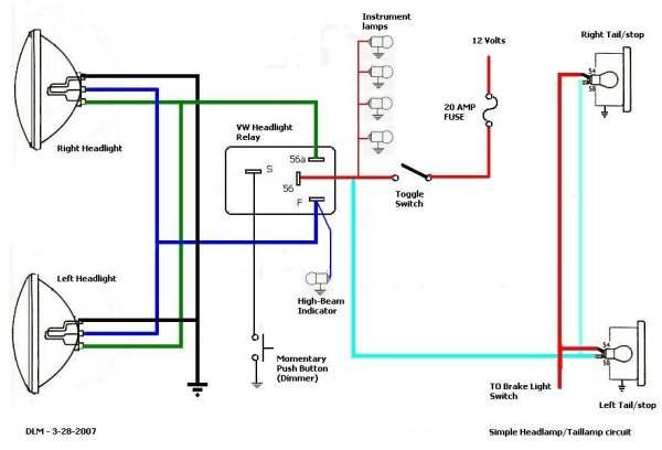 wiring diagram for 12 volt driving lights mercruiser pre alpha outdrive parts thesamba com hbb off road view topic brake running image may have been reduced in size click to fullscreen