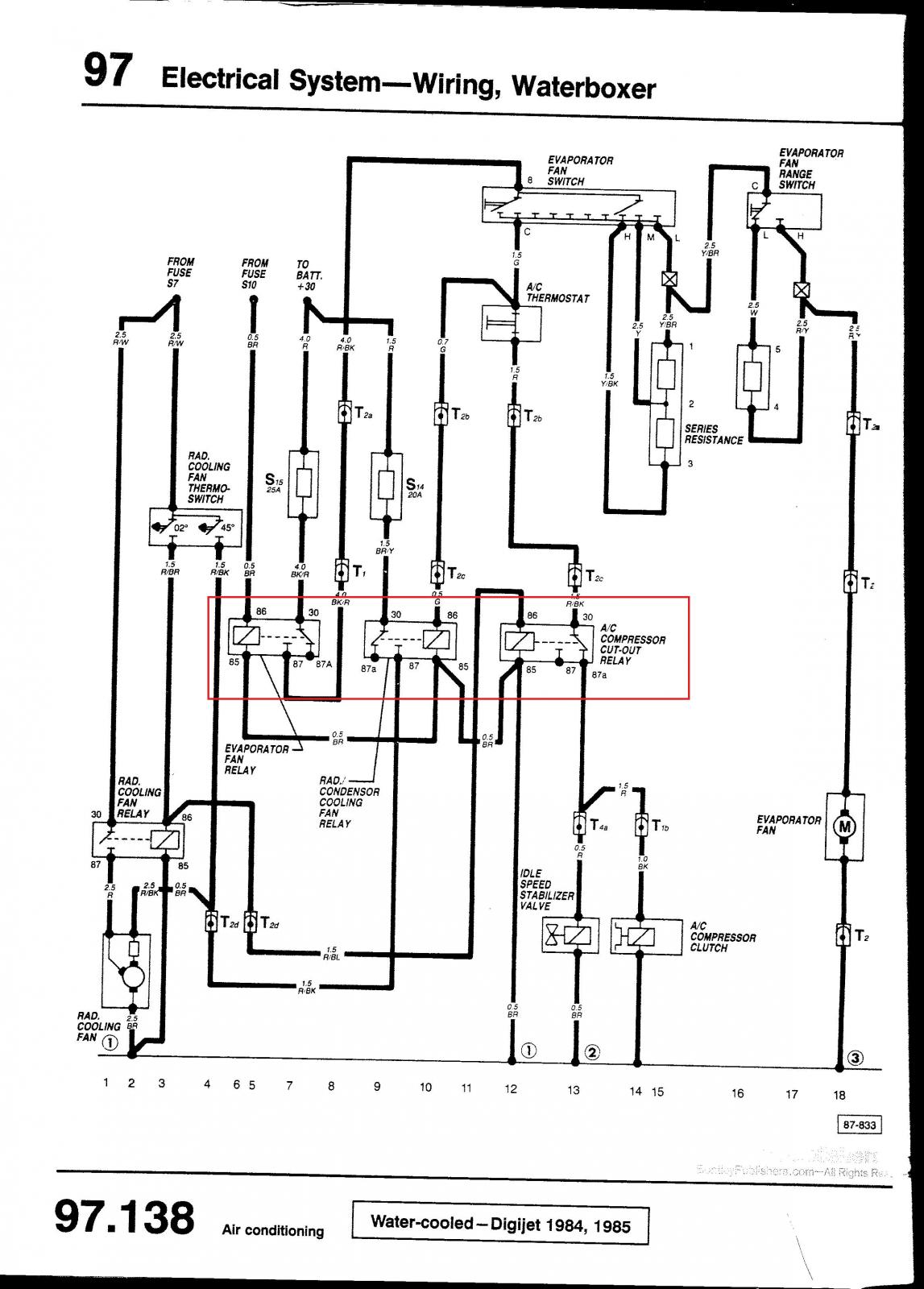 1985 vw vanagon wiring diagram