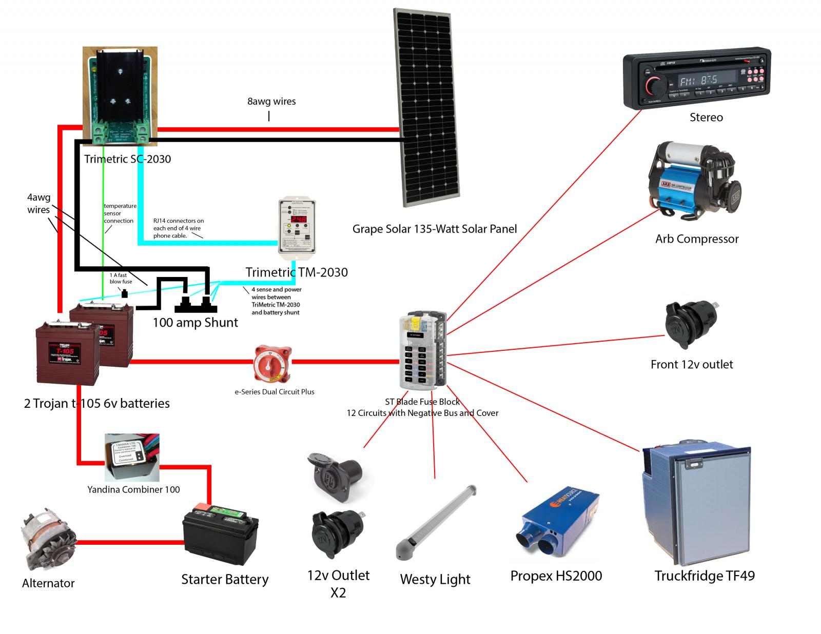 sure power battery isolator wiring diagram mono plug thesamba vanagon view topic solar and aux