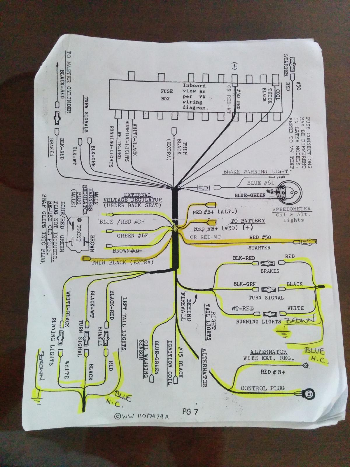 Three Wire Alternator Wiring Diagram Http Wwwthesambacom Vw Forum