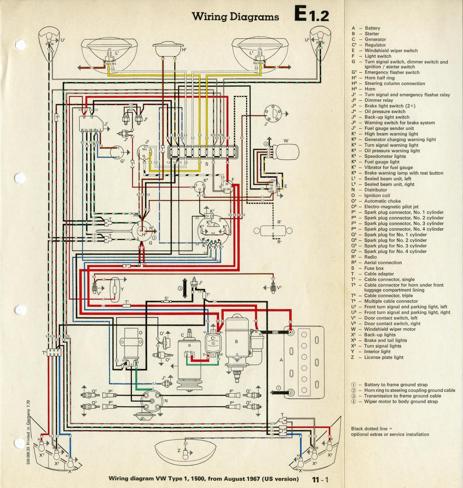 1968 vw beetle autostick wiring diagram 1999 ezgo golf cart thesamba late model super up view