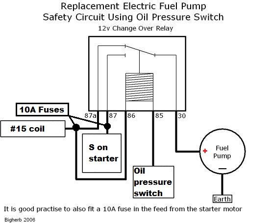 Electric Fuel Pump Oil Pressure Switch Wiring Diagram