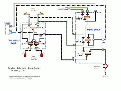 small resolution of early bay brake and turn signal wiring diagram