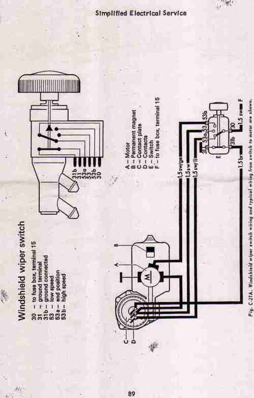 small resolution of vw bug wiper motor wiring wiring diagram todays 56 vw bug wiring diagram thesamba com