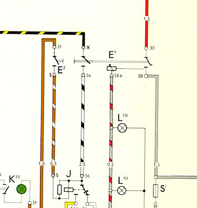 key switch wiring diagram lighting reliance water controls underfloor heating thesamba com thing type 181 view topic headlight image may have been reduced in size click to fullscreen