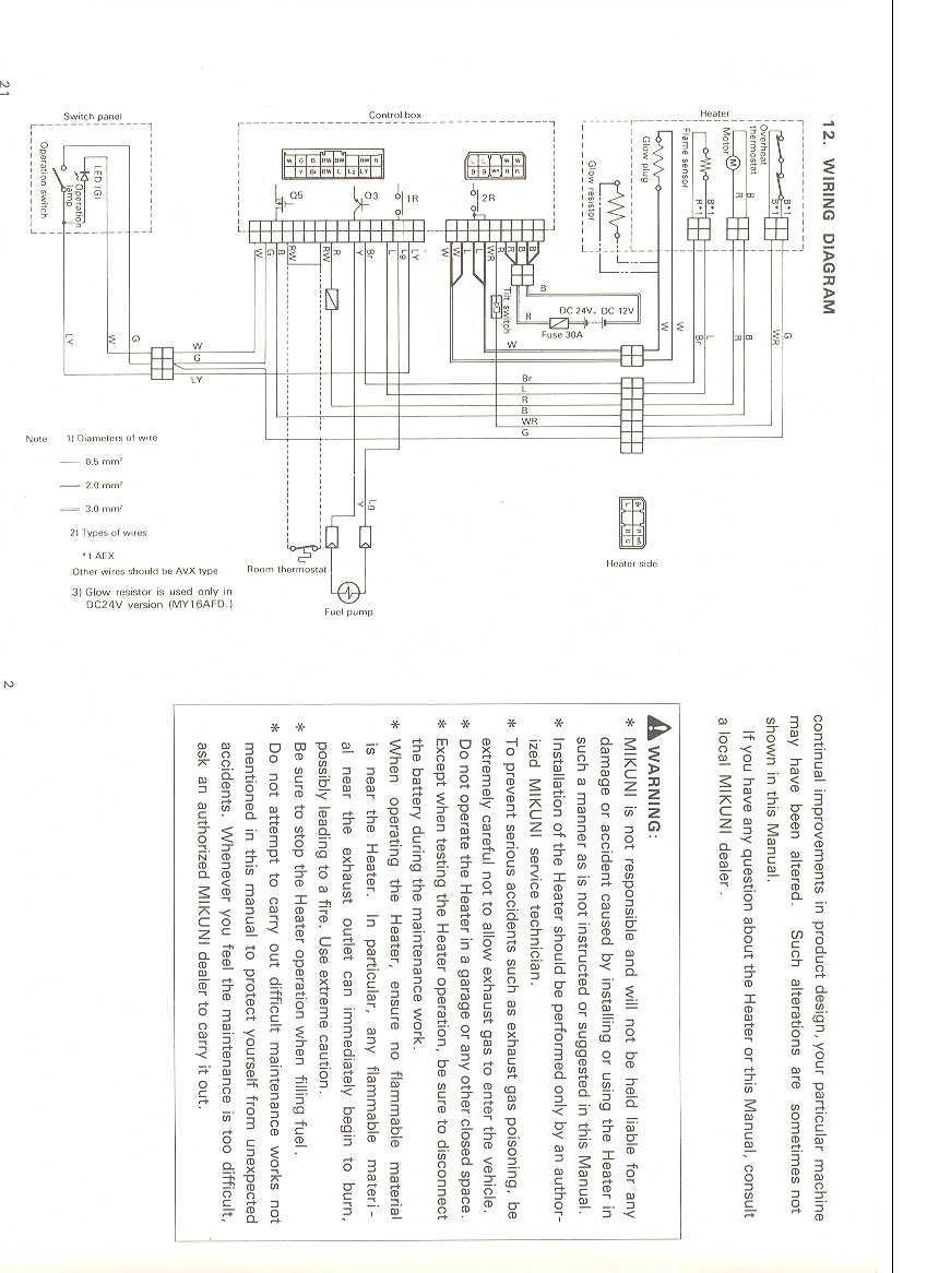 medium resolution of webasto wiring diagram