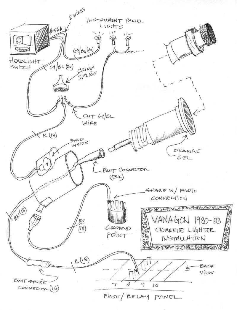 Wiring Diagram Database: Car Cigarette Lighter Wiring Diagram