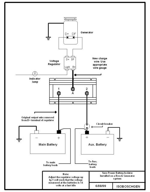 small resolution of battery isolator wiring diagram for