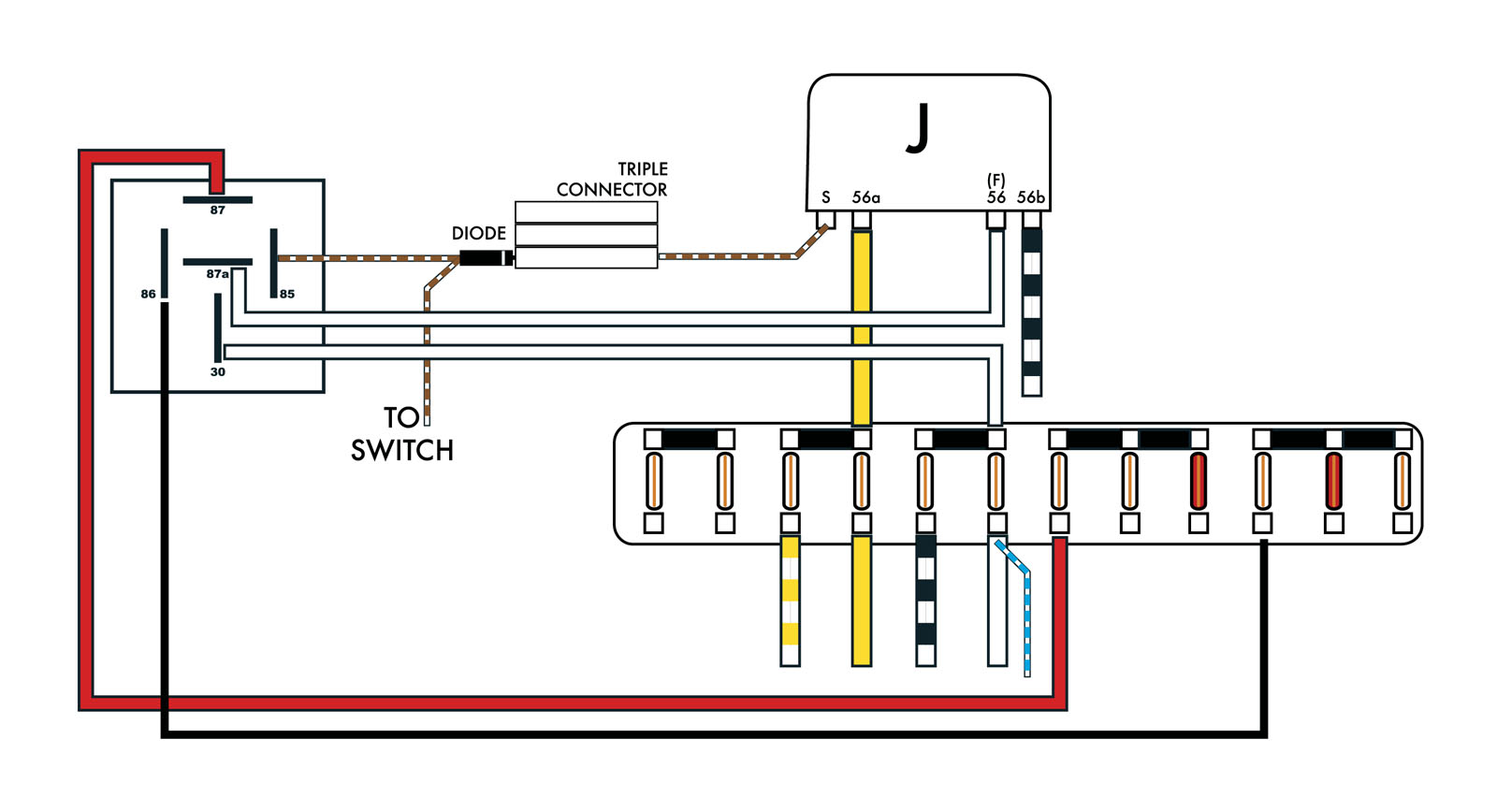 headlight dimmer switch wiring diagram 2004 international 4300 a c thesamba beetle late model super 1968 up view