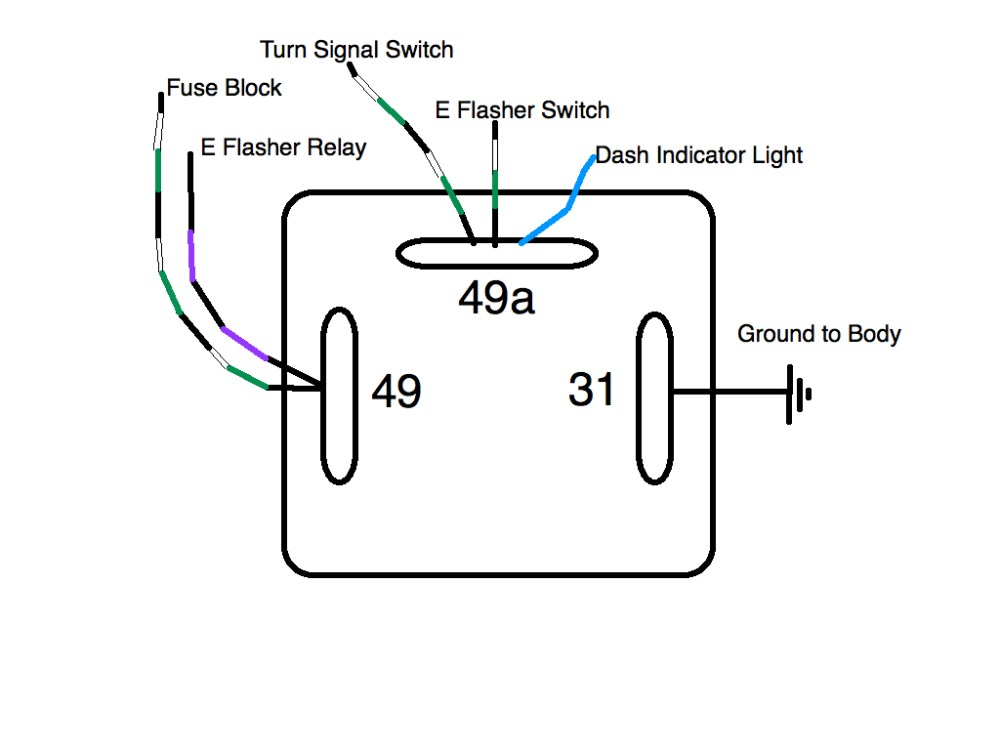 medium resolution of flasher relay wiring detailed wiring diagram turn signal wiring schematic 3 prong turn signal flasher wiring
