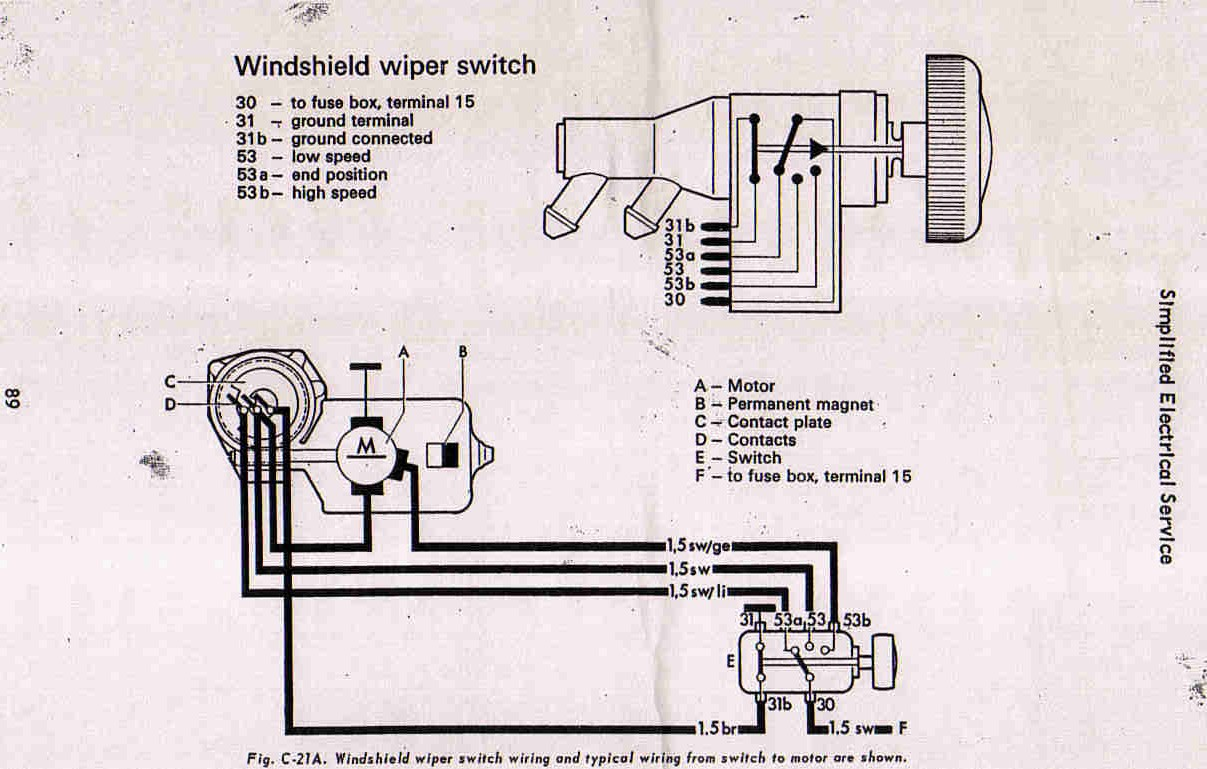 hight resolution of vw bug wiper motor wiring wiring diagrams scematic 1971 vw wiring vw bug wiper motor wiring