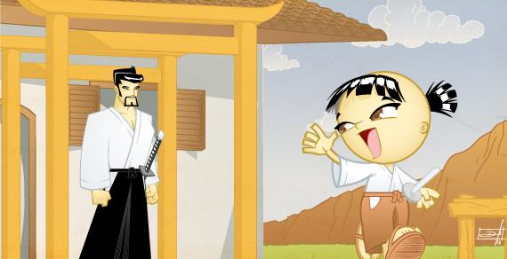 Hiko and his father, Hajime