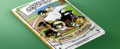 Ganhe um livro de colorir do Samurai Boy