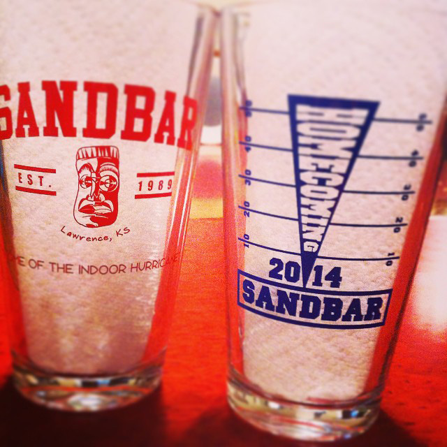 Homecoming pint glasses 2014 | www.thesandbar.com