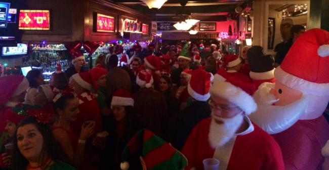 Cafe 210 Santa Crawl 2013