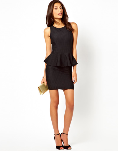 ASOS Lipsy Peplum Dress, $67.88
