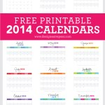 The Best *FREE* Printable 2014 Calendars
