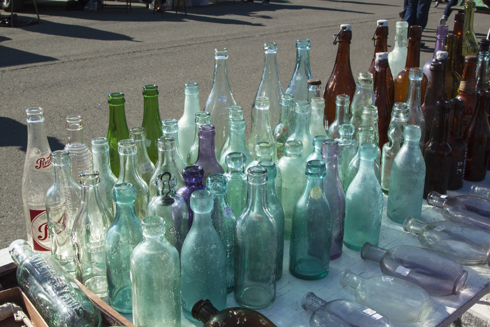 Pretty colored bottles
