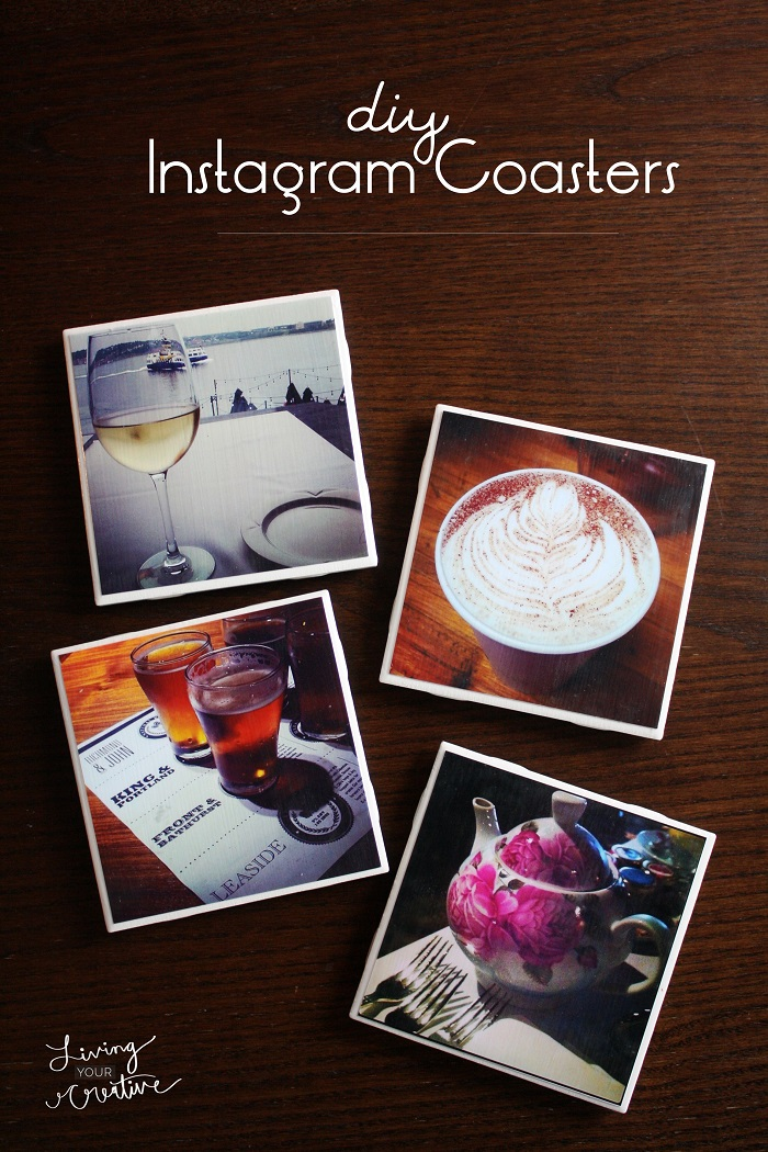 DIY Instagram Coasters at Living Your Creative