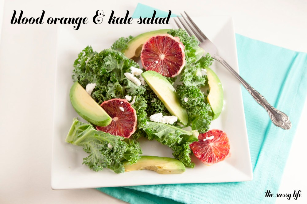 Blood orange + kale salad