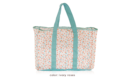Ivory Roses Eco Tote