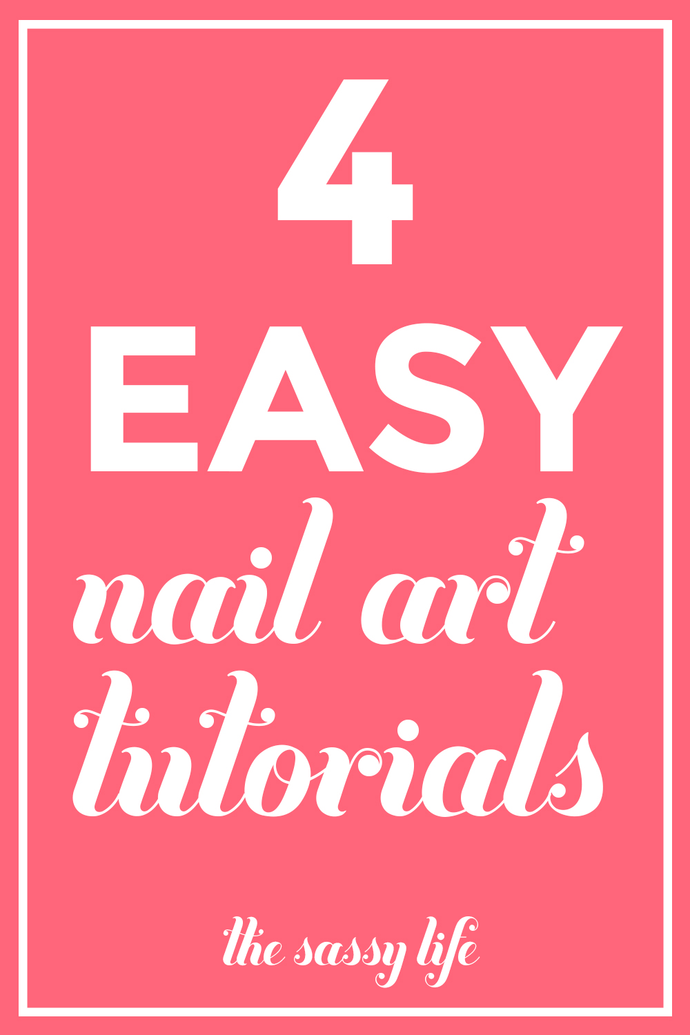 4 Easy Nail Art Tutorials | thesassylife