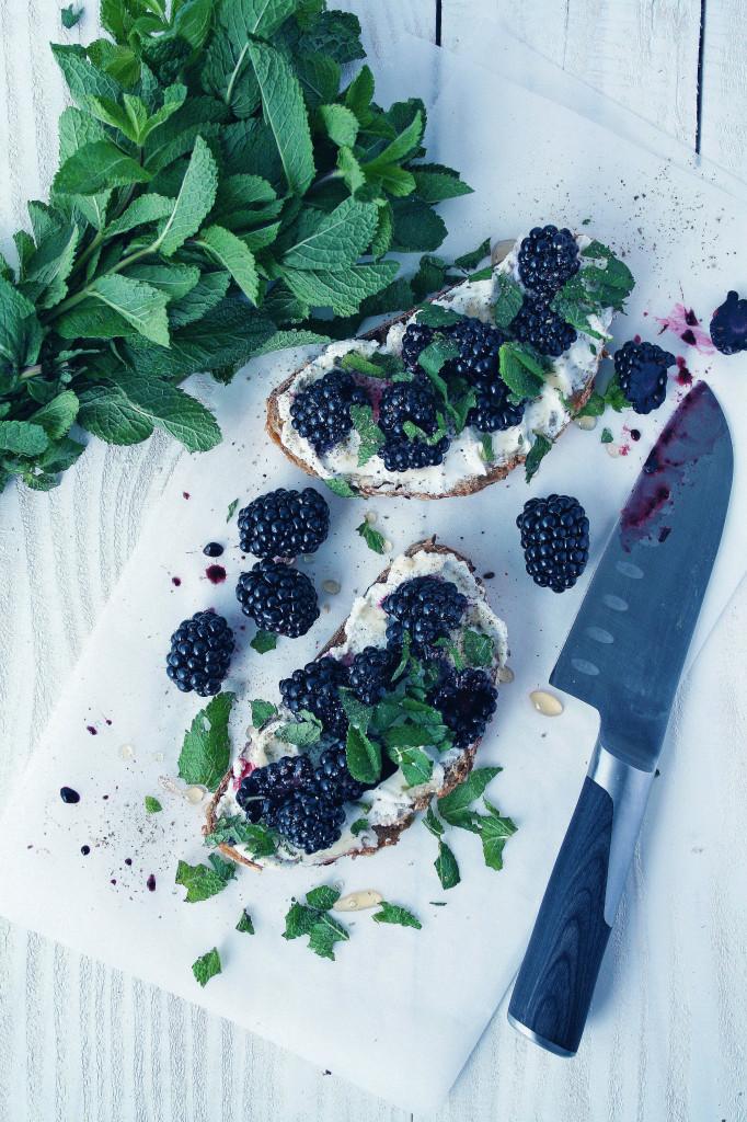 Blackberry & Ricotta Tartines