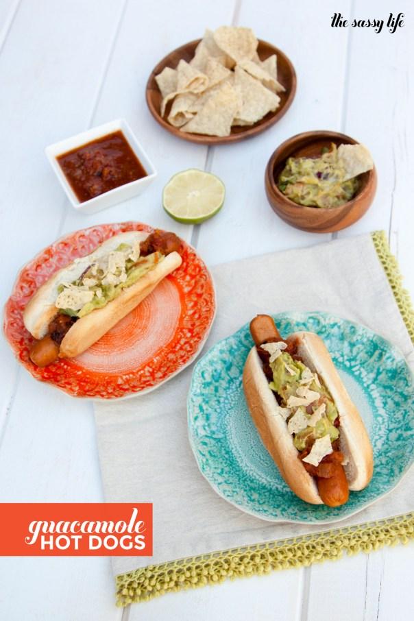 Guacamole Hot Dogs