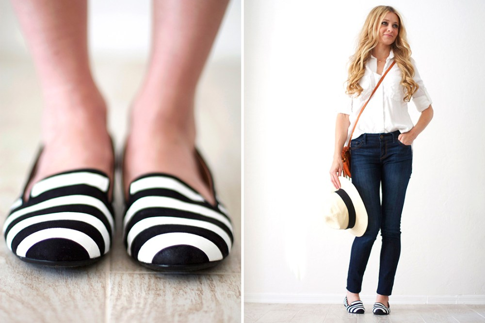 Tod's Striped Loafters DIY