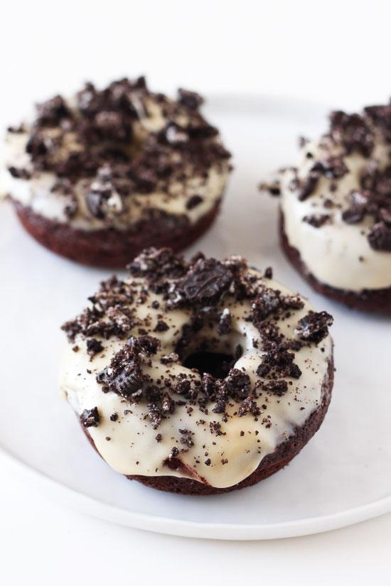 Cookies & Cream Chocolate Doughnuts