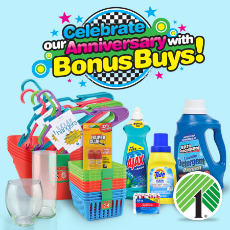 Dollar Tree Anniversary Bonus Buys