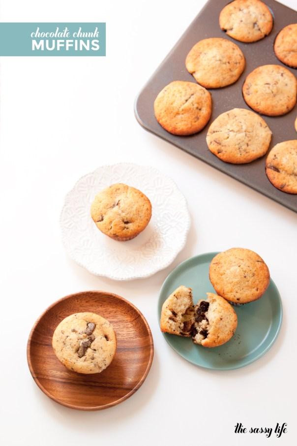 Chocolate Chunk Muffins - Huckleberry Cookbook