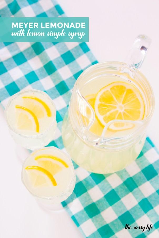 Meyer Lemonade with Lemon Simple Syrup