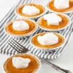 Super Easy Mini Pumpkin Pies