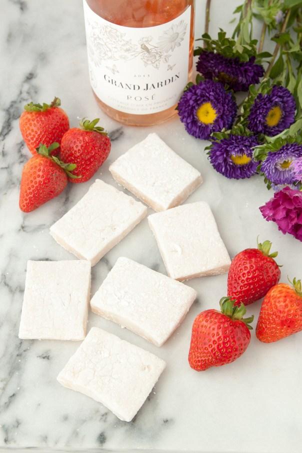 Homemade Rosé Marshmallows