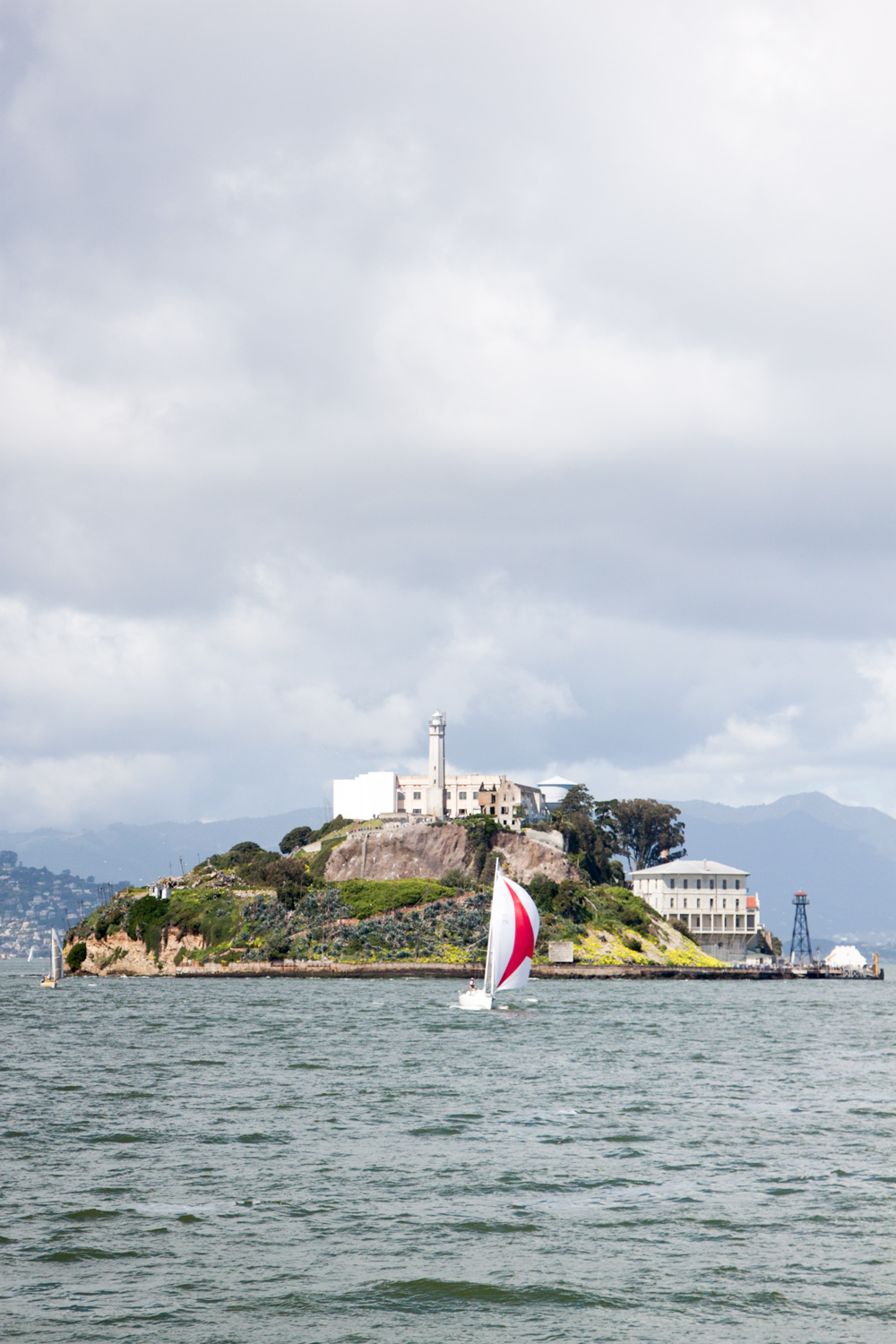 A view of Alcatraz Island from the ferry