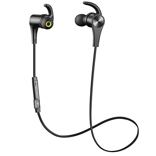 SoundPEATS Bluetooth Headphones In Ear Wireless Earbuds 4.1 Magnetic Sweatproof Stereo Bluetooth Earphones for Sports With Mic (Upgraded 7 Hours Play Time, Secure Fit, Noise Cancelling) - Black - $25.99
