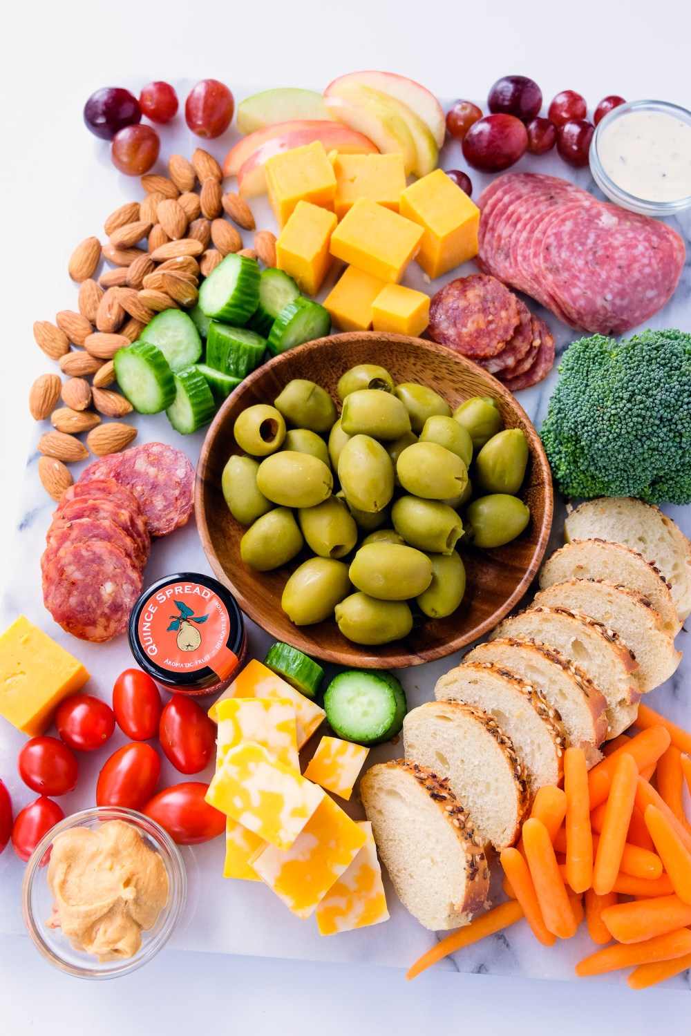 Spring Appetizer Board with Pearls Specialties Jalapeno Stuffed Olives