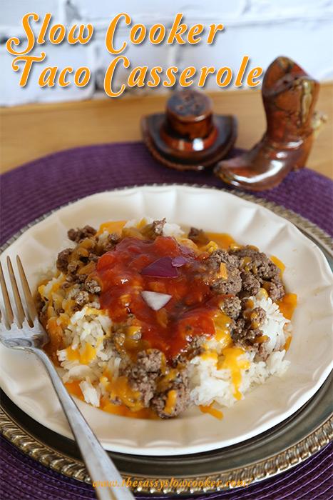Slow Cooker Taco Casserole Recipe