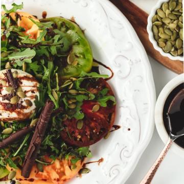Dark Chocolate Balsamic Caprese Salad