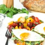 Avocado Toast with Sunny Side Eggs