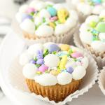 Easter cookies in muffin tins
