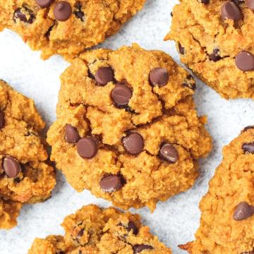up close shot of paleo pumpkin cookies
