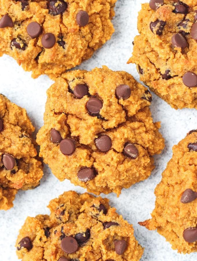 up close shot of paleo pumpkin cookies
