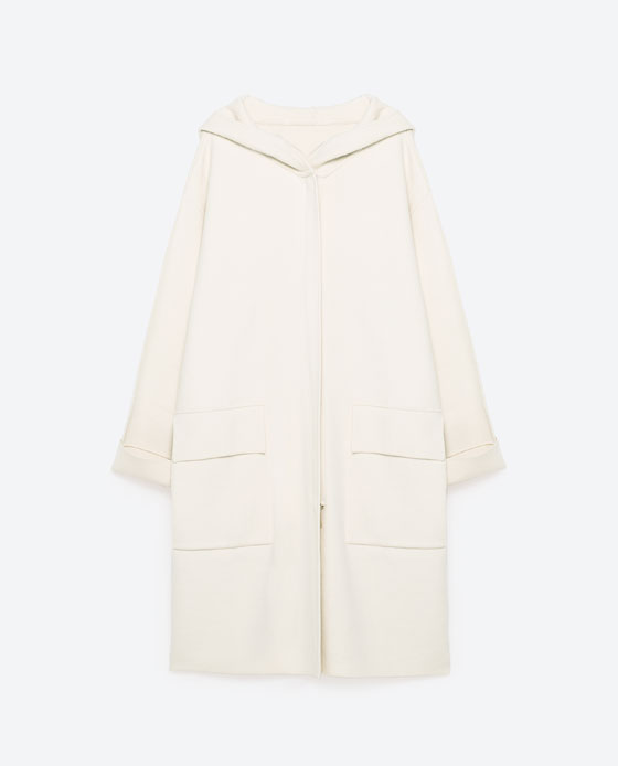 Double-Breasted Oversized Coat $129