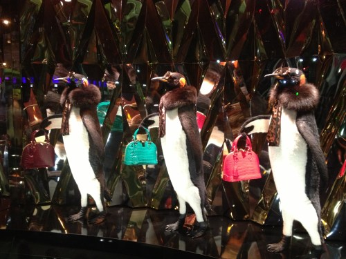 Chic Louis Vuitton Penguins at Galeries Lafayette