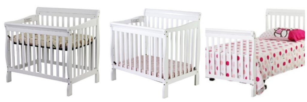 convertiblecrib1 1024x341 Dream On Me 3 in 1 Aden Convertible *Mini* Crib $117.61 Shipped
