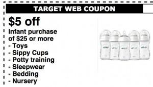 Target: $5 off $25 Printable Baby Coupon • The Savvy Bump