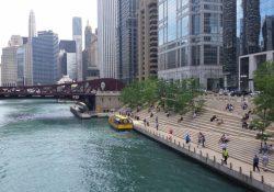 the Chicago Riverwalk in September