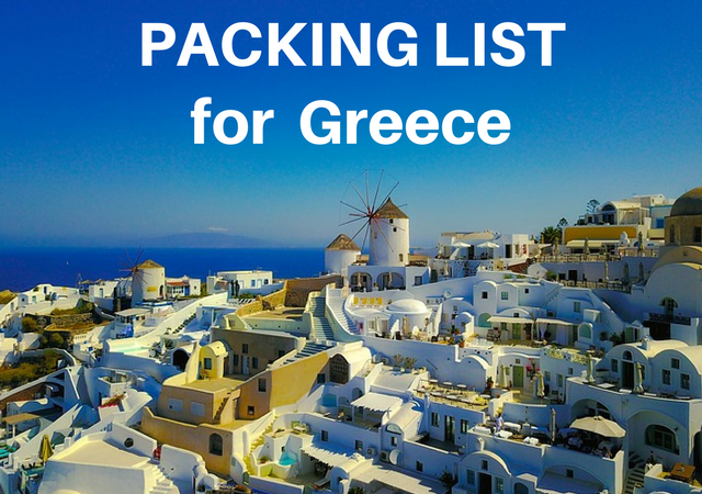 Greece Packing List